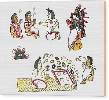 Aztec Medicine, Codex Magliabechiano Wood Print by Science Source