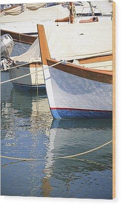 Azure Waters Wood Print