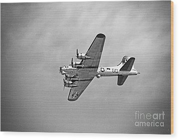 Wood Print featuring the photograph B-17 Bomber - Dust And Scratch by Thanh Tran