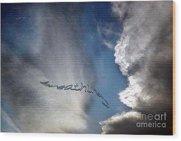 Wood Print featuring the photograph B R E A T H E by Vicki Ferrari