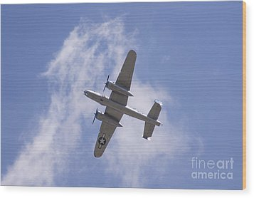 B25 Wood Print by Robert E Alter Reflections of Infinity