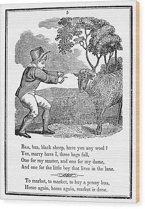 Baa, Baa, Black Sheep, 1833 Wood Print by Granger