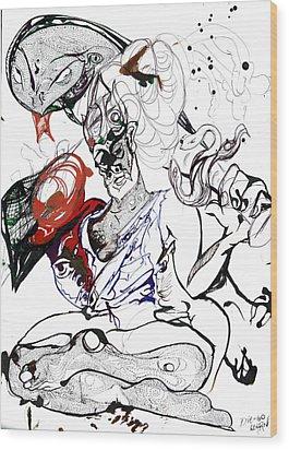 Baba Wood Print by Die Go Learn