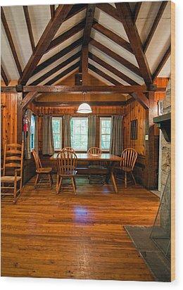 Babcock Cabin Interior 2 Wood Print by Steve Harrington