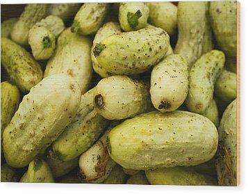 Baby Cucumbers Wood Print by Tanya Harrison