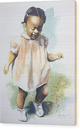 Baby Steps Wood Print by Gregory DeGroat