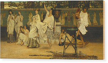 Bacchanal Wood Print by Sir Lawrence Alma-Tadema