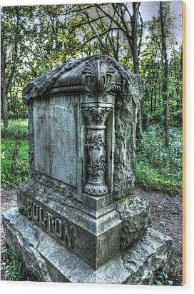 Bachelors Grove Fulton Tomb Wood Print by Jackie Novak