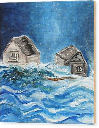 Back Cover Wood Print by Carol Allen Anfinsen