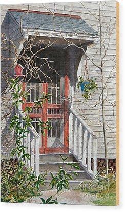 Back Door Friends  Sold Wood Print