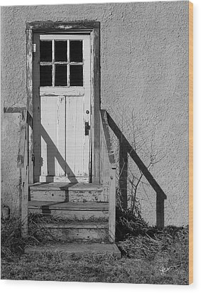 Back Door Wood Print