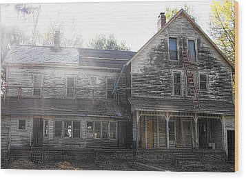 Back Of 1860's Mansion Wood Print by Kristie  Bonnewell