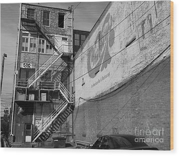 Wood Print featuring the photograph Back Of Historic Louisville Building by Utopia Concepts