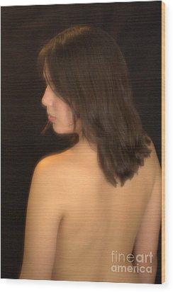 Back Profile Wood Print