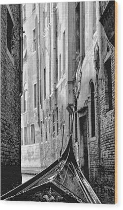 Wood Print featuring the photograph Back Street Gondola by Graham Hawcroft pixsellpix