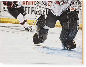 Back To The Crease Wood Print by Karol Livote