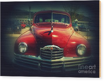 Back To The Future Packard Wood Print by Susanne Van Hulst