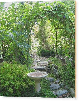 Backbay Fens Arch Wood Print by Bruce Carpenter