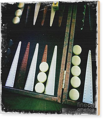 Wood Print featuring the photograph Backgammon Anyone by Nina Prommer