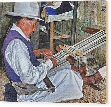 Backstrap Loom - Ecuador Wood Print by Julia Springer
