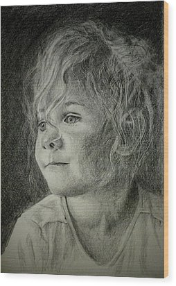 Bad Hair Day Mom Wood Print