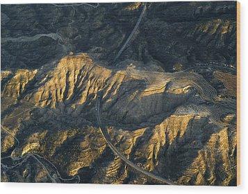 Bad Lands Granada Spain Wood Print by Guido Montanes Castillo