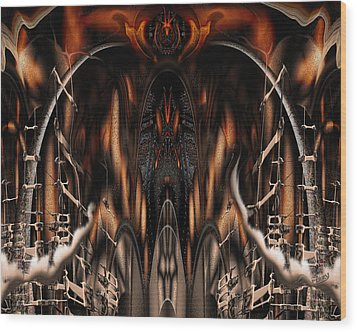 Bad Ride Wood Print by Steve Sperry