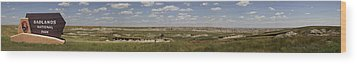 Badlands Panorama Wood Print