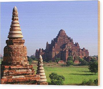 Bagan Temple Wood Print