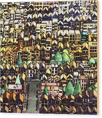 Baghdad By The Bay Wood Print by Andre Salvador
