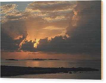 Bahamas Sunset Wood Print by Coby Cooper