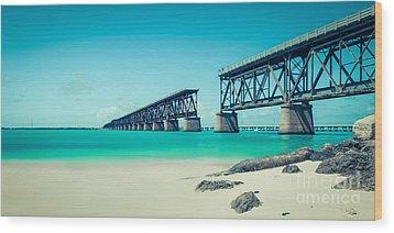 Bahia Hondas Railroad Bridge  Wood Print by Hannes Cmarits