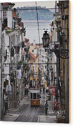 Bairro Alto - Lisbon Wood Print by Armando Carlos Ferreira Palhau