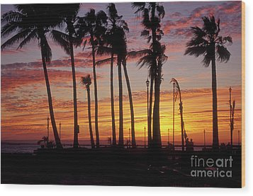 Wood Print featuring the photograph Baja Sunset La Paz  Mexico by John  Mitchell