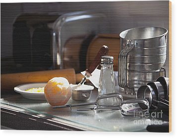 Baking Still Life Wood Print by Will & Deni McIntyre