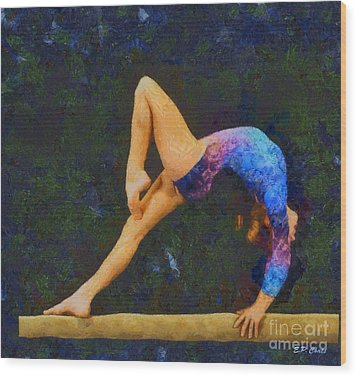 Balance Beam Wood Print by Elizabeth Coats
