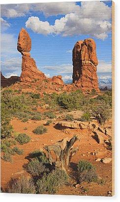 Balanced Rock Wood Print by Adam Pender