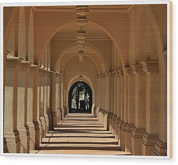 Balboa Passageway Wood Print by Frank Wickham