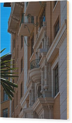 Wood Print featuring the photograph Balcony At The Biltmore Hotel by Ed Gleichman