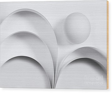 Ball And Curves 05 Wood Print by Nailia Schwarz