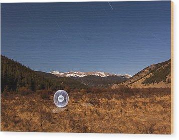 Ball Of Light Geneva Creek Valley Wood Print by Richard Steinberger