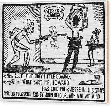 Ballad Of Jesse James Wood Print by Granger