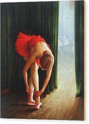 Ballerina 2 Wood Print by Yoo Choong Yeul