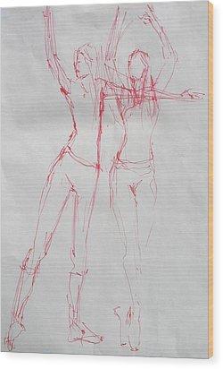 Ballerina 8040 Wood Print by Elizabeth Parashis