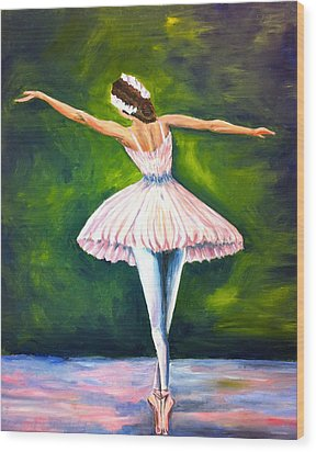 Ballerina Wood Print by Tiffany Albright