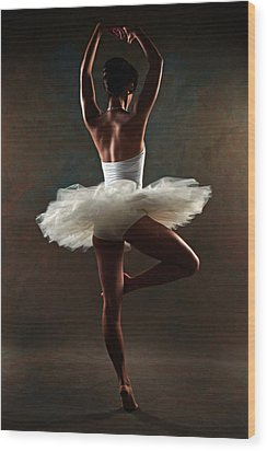 Ballerina Wood Print by Tonino Guzzo