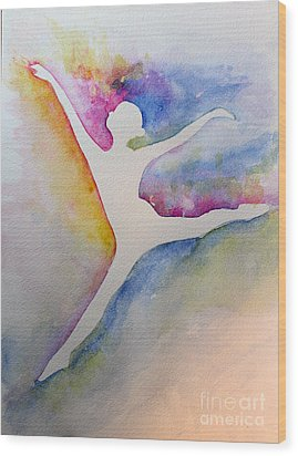 Ballet Leap 1 Wood Print by Carolyn Weir