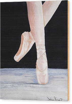 Ballet Shoes Wood Print by Julie Kraft