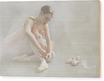 Ballet Slippers D003986-b Wood Print by Daniel Dempster