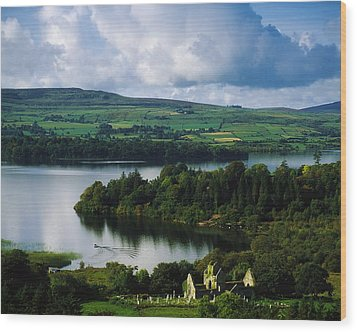 Ballindoon Abbey, Lough Arrow, Co Wood Print by The Irish Image Collection